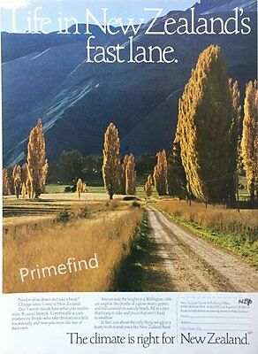 1987 NEW ZEALAND Country Sights  TRAVEL TOURISM Original PRINT AD