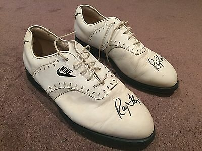 Raymond Floyd's personally signed Golf Shoes worn at the 1992 Australian Open