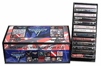 VAN HALEN - Lot of 13 used cassettes in excellent condition in a custom box set!
