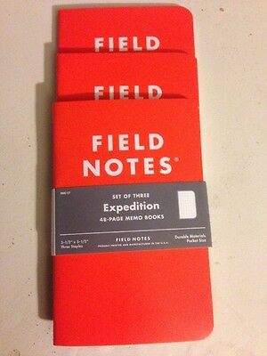 Field Notes Expedition 3Pk, New, Free Shipping