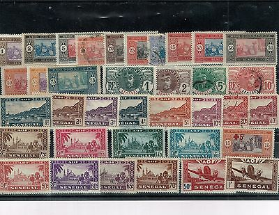 Senegal, small acumulation of stamps, mixed condition (01).