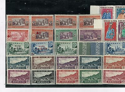 Senegal, small acumulation of stamps, mixed condition (02).