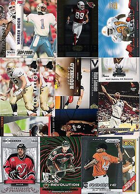 45 Card Lot Sports Cards Numbered Insert Rookies Rc Nfl Mlb Nhl Afl Basketball