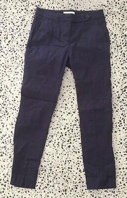 Trenery 7/8 Pants Navy Blue Size 4