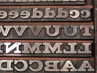 60 Point Clarendon Bold Extended Letterpress Type