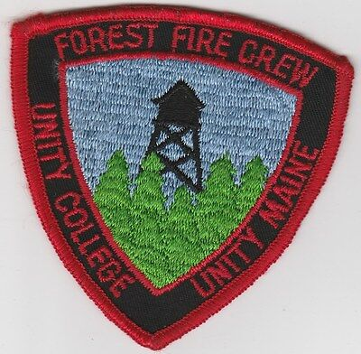vintage Unity College Forest Fire Crew ~ Unity, Maine patch ME  fire tower scene