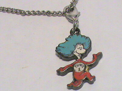 Dr.  Seuss Thing 1 and Thing 2 pendant necklace