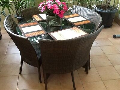 Outdoor furniture setting - table and chairs