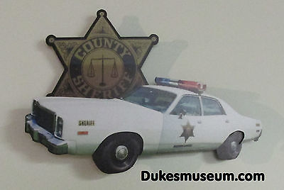 Dukes of Hazzard -3-D Wall Art SHERIFF CAR