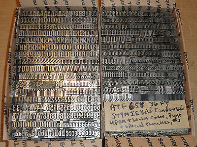 Vintage Letterpress Printing Foundry Type 36PT Stymie Bold Condensed ATF 658