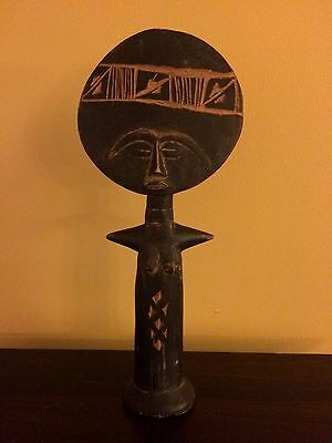 African Carved Wood Fertility Figurine