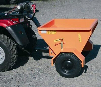 Hydromann mini 80 pull type ground drive drop salt and sand spreader