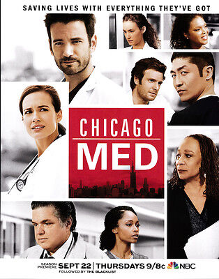 Chicago Med / This Is Us 2-page clipping ad Sep 2016 NBC series