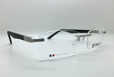 Tag Heuer Legend TH9341 001 56-17-14 Rimless Black Eye Glasses Frames Spectacles