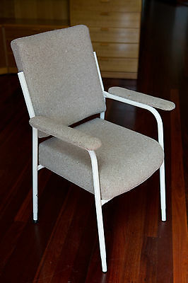 Chair - Adjustable Height, Metal frame, cushioned & fabric seat, arms & backrest
