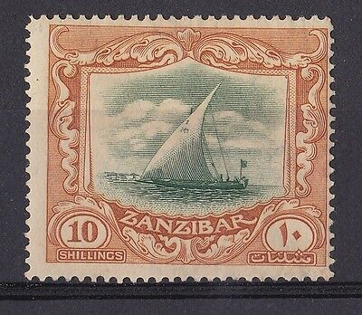 DB302) Zanzibar 1921 10R Green & Brown SG 295