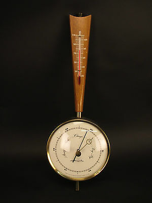 Vintage Airguide Banjo Barometer with Thermometer