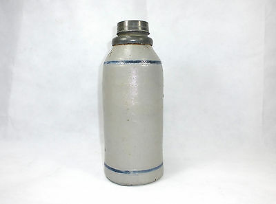 Rare Ceramic Bottle with lid Switzerland / France 19 Jh bottle