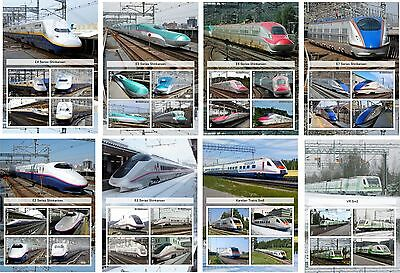 2015 High Speed Trains Of The World  Part Ii   8 Souvenir Sheets  Unperforated