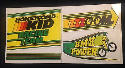 Honeycomb Kid Racing Team & BMX Power vintage Stickers UNUSED Free Shiipping!