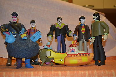 Beatles Set 8 Pezzi Action Figure - Yello Submarine