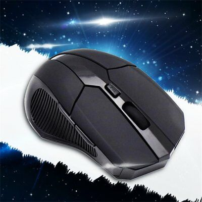 2.4 GHz Wireless Optical Mouse Mice + USB 2.0 Receiver for PC Laptop Black EFC