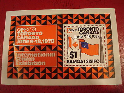 Samoa - 1978 Capex - Minisheet - Unmounted Mint - Ex. Condition