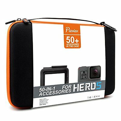 Pieviev Accessories Case Kit for Gopro HERO5 Black (50+ Items,Included HERO5 ...