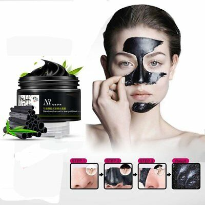 Face Mask Nose Blackhead Acne Pore Deep Remover Cleansing Strip Black Mud Hot BY