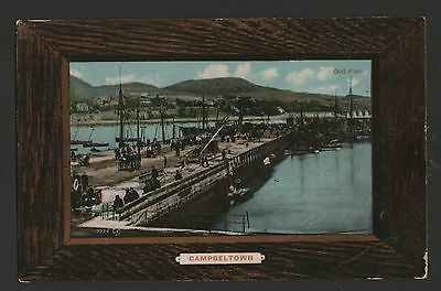OLD REAL PHOTO PC. THE OLD PIER, CAMPBELTOWN. animated
