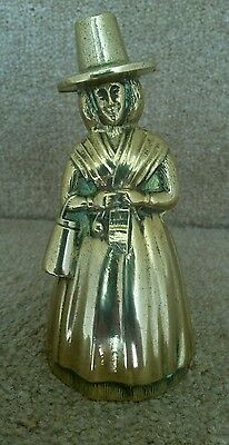 Vintage Brass  Welsh Lady ~ Hand Bell .