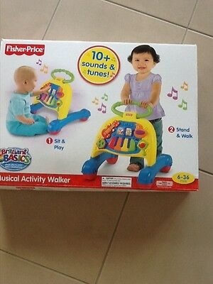 New Fisher Price Baby Activity Centre & Walker Music Sounds & Tunes