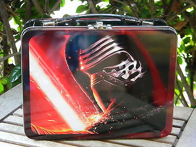 Disney Star Wars Force Awakens KYLO REN Tin Lunch Box Tote Large Lucasfilm NEW