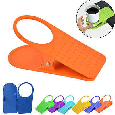 1 Pc Office Kitchen Table Desk Drink Coffee Cup Holder Clip Drinklip