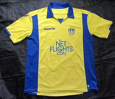 LEEDS UNITED AFC Away Shirt  jersey Macron 2009-2010 The Peacocks /men/ SZIE  XL