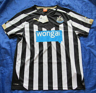NEWCASTLE UNITED home shirt jersey PUMA 2014-2015 Magpies NEW TAGS adult SIZE L