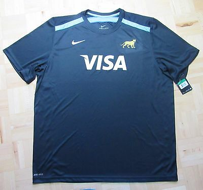 Argentina Los Pumas RUGBY UNION training shirt jersey NIKE Visa men SIZE XL
