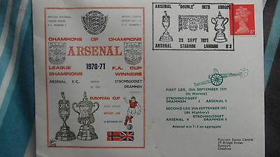Arsenal Football Cover - 1971 - Old - Stromsgodset