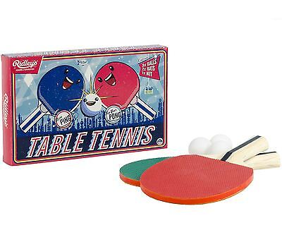 Tabletop Ping Pong Table Tennis Game Indoor Outdoor Custom Net Paddles