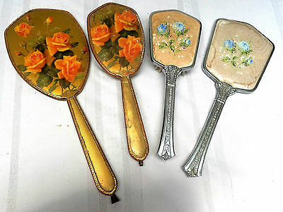 Two Vintage Brush & Mirror Dressing Table Sets