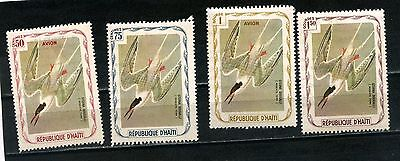 Haiti 3 postage stamps 75c 1g & 1.5g  -   1 airmail stamp 50c MH