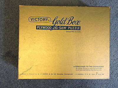 Rare Vintage Victory Gold Plywood Jigsaw Puzzle - Complete - Great Condition