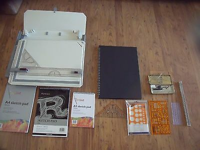 Rotring 232980 Rapid Drawing Board A3 with College Case + loads of extras VGC