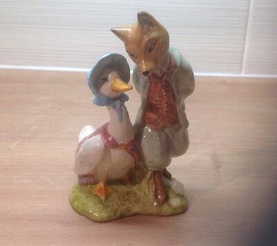 Royal Albert Beatrix Potter JEMIMA PUDDLEDUCK with FOXY WHISKERED GENTLEMAN