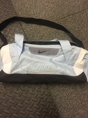 Nike Sports Bag Blue/white/black With Strap