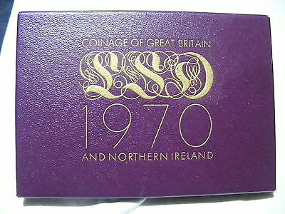 Coinage Of Great Britain Northern Ireland 1970 Year Set Proof Coins Mint Unc #1