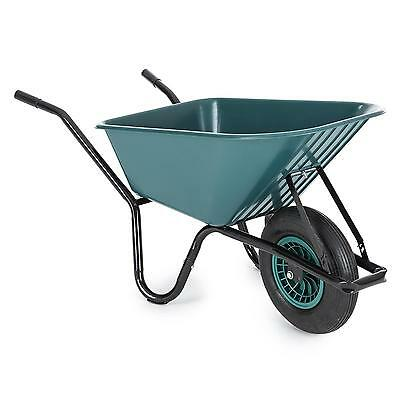 Wheelbarrow 1 Wheel Construction Barn Farm Wagon Handcart Patio Garden Transport