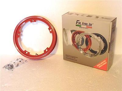 SIP Lambretta Tubeless Rims - Red Lambretta Wheel rims (Price per rim)