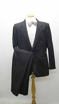 Vintage 1960s Charcoal Grey Pin Stripe Single Breasted Suit by Simpsons