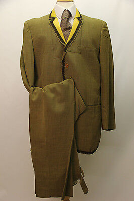 1960s Brown Small Check Lightweight Suit From America